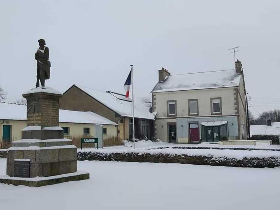 La neige à Saint-Martin-Des-Présfevrier 2021 lamairie