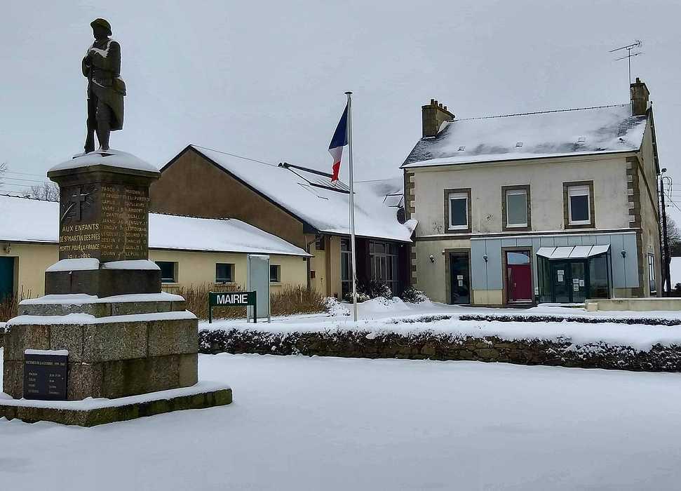La neige à Saint-Martin-Des-Présfevrier 2021 0